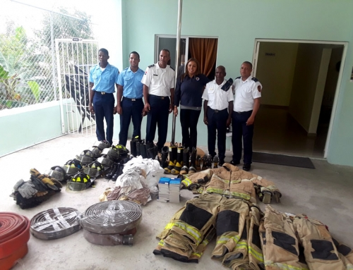 Bunker Gear Donation, San Luis and Bayaguana, Dominican Republic