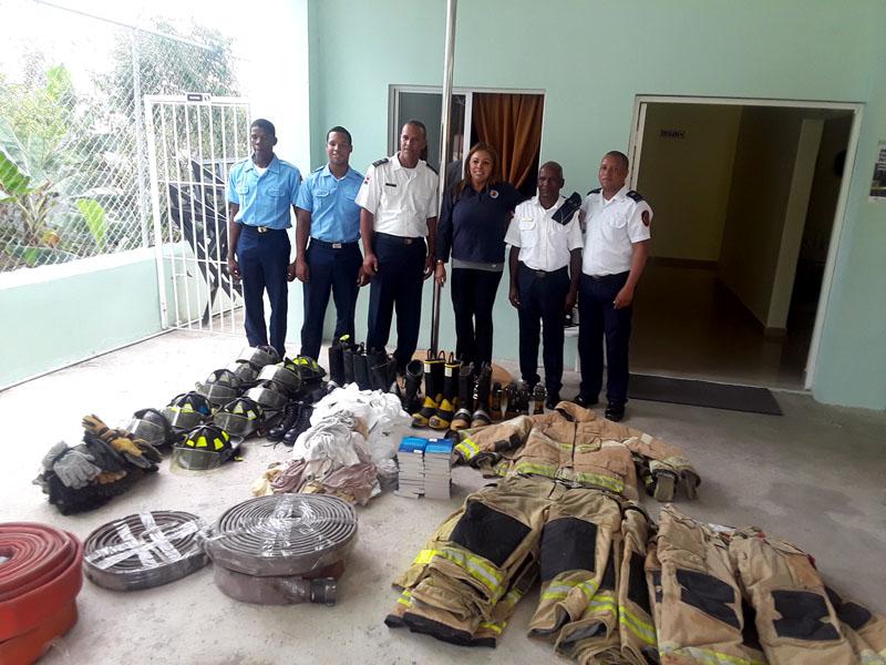 Bunker Gear Donation, San Luis and Bayaguana, Dominican Republic