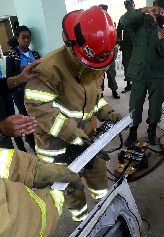 Fire Equipment Donation, Bayaguana, Dominican Republic, December 2019
